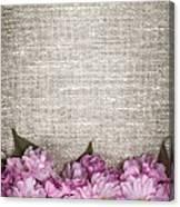 Cherry Blossoms On Linen  Canvas Print