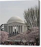 Cherry Blossoms With Jefferson Memorial - Washington Dc - 01132 Canvas Print