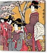 Cherry-viewing At Gotenyama Canvas Print