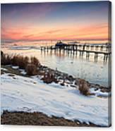 Chesapeake Bay Freeze Canvas Print