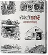 Cheshire Landmarks Canvas Print