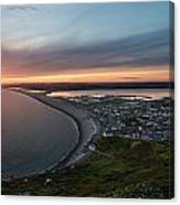 Chesil Beach Sunset  Canvas Print