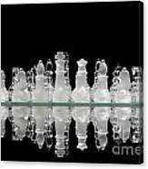 Chess Game Reflection Canvas Print
