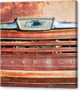 Chevrolet 31 Apache Pickup Truck Grille Emblem Canvas Print