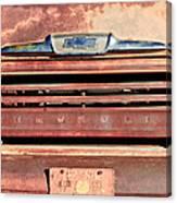 Chevrolet Apache 31 Pickup Truck Grille Emblem Canvas Print