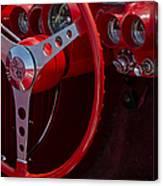 Chevrolet Corvette Red 1962 Canvas Print
