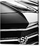 Chevrolet Chevelle Ss 398 Grille Emblem Canvas Print
