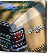 Chevrolet Chevelle Ss Taillight Emblems Canvas Print
