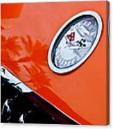 Chevrolet Corvette Hood Emblem Canvas Print