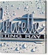 1966 Chevrolet Corvette Sting Ray Emblem -0052c Canvas Print