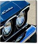 Chevrolet El Camino Hood Emblem - Head Lights Canvas Print