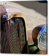 Chevrolet Grille Emblem - Head Light Canvas Print