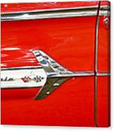 Chevrolet Impala Classic In Red Canvas Print
