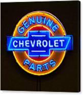 Chevrolet Neon Sign Canvas Print