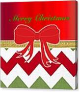 Chevron Christmas Canvas Print