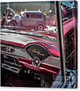 Chevy Bel Air Dash Canvas Print