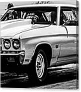 Chevy Chevrolet Chevelle Ss Burning Rubber Canvas Print