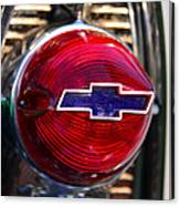 Chevy Red White And Blue Canvas Print