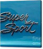 Chevy Super Sport II Emblem Canvas Print