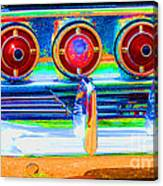 Chevy Tailights 1958 Canvas Print