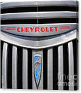 Chevy Truck Grill Canvas Print