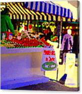 Chez Nino At Marche Jean Talon Montreal A Taste Of Culinary Culture  Food Art Scenes Carole Spandau  Canvas Print