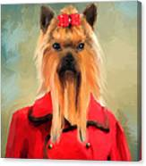 Chic Yorkshire Terrier Canvas Print