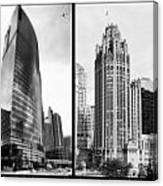 Chicago 333 And The Tower 2 Panel Bw Canvas Print