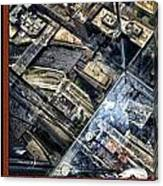 Chicago A View From The Top Of Sears Willis Tower Hdr Triptych 3 Panel Canvas Print