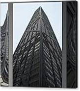 Chicago Abstract Before And After John Hancock Sw Facades Triptych 3 Panel Canvas Print