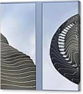 Chicago Abstract Before And After Radisson Blu Hotel 2 Panel Canvas Print