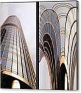 Chicago Abstract Before And After Sunrays On Trump Tower 2 Panel Canvas Print