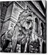 Lion Statue at Art Institute of Chicago Canvas Print