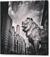 Art Institute of Chicago Lion Picture Canvas Print