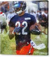 Chicago Bears Rb Matt Forte Training Camp 2014 Photo Art 02 Canvas Print