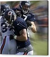 Chicago Bears Te Jeron Mastrud Moving The Ball Training Camp 2014 Canvas Print