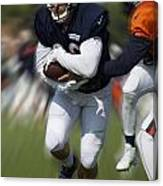 Chicago Bears Training Camp 2014 Moving The Ball 05 Canvas Print