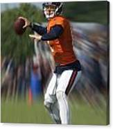 Chicago Bears Training Camp 2014 Moving The Ball 06 Canvas Print