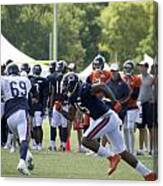 Chicago Bears Wr Brandon Marshall Training Camp 2014 05 Canvas Print