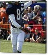 Chicago Bears Wr Chris Williams Training Camp 2014 04 Canvas Print
