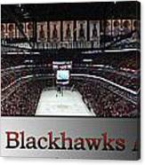 Chicago Blackhawks At Home Panorama Sb Canvas Print