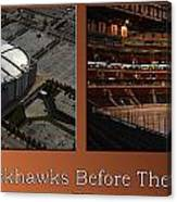 Chicago Blackhawks Before The Gates Open Interior 2 Panel Tan Canvas Print