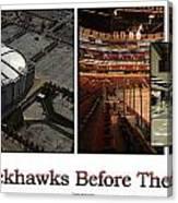 Chicago Blackhawks Before The Gates Open Interior 2 Panel White 02 Canvas Print