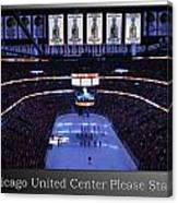 Chicago Blackhawks Please Stand Up With White Text Sb Canvas Print