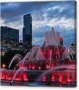 Chicago Blackhawks Skyline Canvas Print