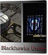 Chicago Blackhawks United Center 2 Panel Sb Canvas Print