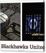 Chicago Blackhawks United Center 2 Panel White Signage Canvas Print