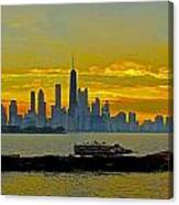 Chicago Breakwater Canvas Print
