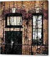 Chicago Brick Facade Grunge Canvas Print
