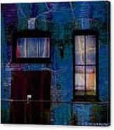 Chicago Brick Facade Night Moves Canvas Print